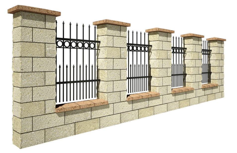 Ogrodzenia frontowe murowane betonowe Tarnów Bochnia Kraków Wieliczka Niepołomice wzory