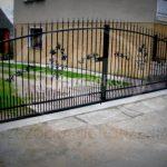 Brama przesuwna ocykowana i malowana proszkowo
