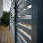 Ogrodzenia panelowe z profili poziomych Pszczółka Ogrodzenia Bramy Nowoczesne Kute Metalowe Panelowe Kraków Bochnia Tarnów Niepołomice Brzesko Limanowa