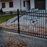 Brama dwuskrzydłowa kuta Pszczółka Ogrodzenia Bramy Nowoczesne Kute Metalowe Panelowe Kraków Bochnia Tarnów Niepołomice Brzesko Limanowa