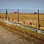 Ogrodzenia z siatki z podmurówką