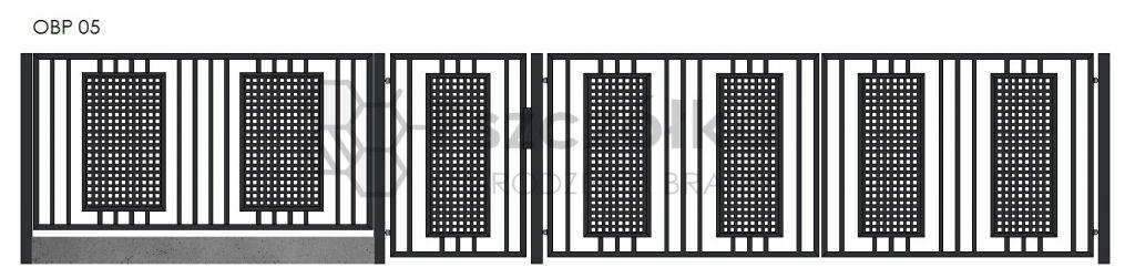 Nowoczesne ogrodzenia i bramy z blachy perforowanej Bochnia Kraków Tarnów Niepołomice Brzesko Wieliczka Limanowa OBP05