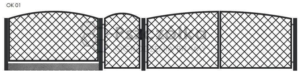 Nowoczesne ogrodzenia i bramy kute metalowe Bochnia Kraków Tarnów Niepołomice Brzesko Wieliczka Limanowa OK01