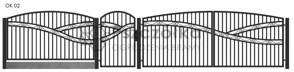 Nowoczesne ogrodzenia i bramy kute metalowe Bochnia Kraków Tarnów Niepołomice Brzesko Wieliczka Limanowa OK02