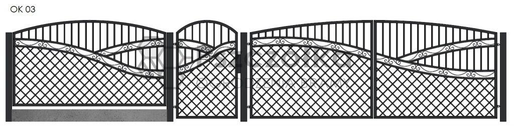 Nowoczesne ogrodzenia i bramy kute metalowe Bochnia Kraków Tarnów Niepołomice Brzesko Wieliczka Limanowa OK03