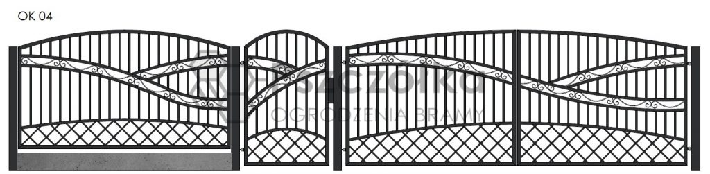 Nowoczesne ogrodzenia i bramy kute metalowe Bochnia Kraków Tarnów Niepołomice Brzesko Wieliczka Limanowa OK04