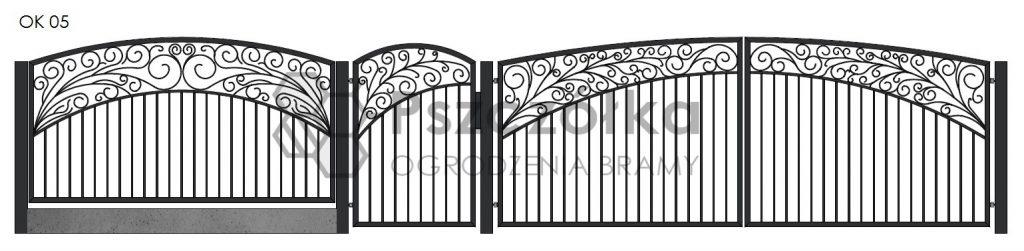 Nowoczesne ogrodzenia i bramy kute metalowe Bochnia Kraków Tarnów Niepołomice Brzesko Wieliczka Limanowa OK05
