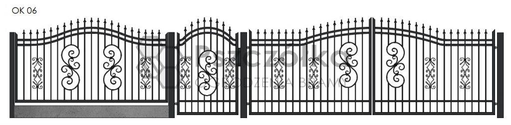 Nowoczesne ogrodzenia i bramy kute metalowe Bochnia Kraków Tarnów Niepołomi6e Brzesko Wieliczka Limanowa OK08