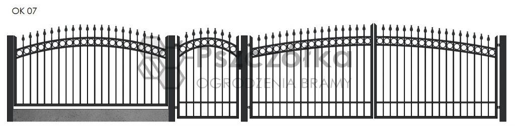 Nowoczesne ogrodzenia i bramy kute metalowe Bochnia Kraków Tarnów Niepołomice Brzesko Wieliczka Limanowa OK07
