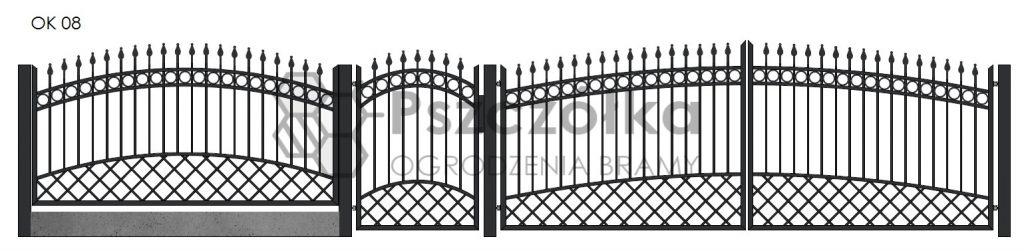 Nowoczesne ogrodzenia i bramy kute metalowe Bochnia Kraków Tarnów Niepołomice Brzesko Wieliczka Limanowa OK08
