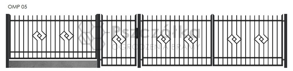 Nowoczesne ogrodzenia i bramy metalowe Bochnia Kraków Tarnów Niepołomice Brzesko Wieliczka Limanowa OMP05