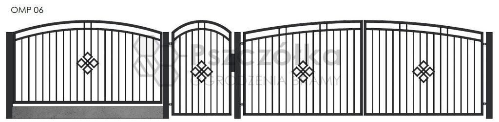 Nowoczesne ogrodzenia i bramy metalowe Bochnia Kraków Tarnów Niepołomice Brzesko Wieliczka Limanowa OMP06