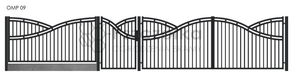Nowoczesne ogrodzenia i bramy metalowe Bochnia Kraków Tarnów Niepołomice Brzesko Wieliczka Limanowa OMP09