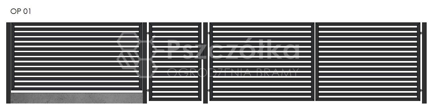 Nowoczesne ogrodzenia i bramy panelowe z profili Bochnia Kraków Tarnów Niepołomice Brzesko Wieliczka Limanowa OP01
