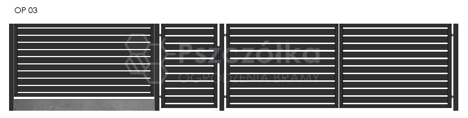 Nowoczesne ogrodzenia i bramy panelowe z profili Bochnia Kraków Tarnów Niepołomice Brzesko Wieliczka Limanowa OP3