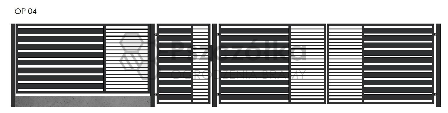 Nowoczesne ogrodzenia i bramy panelowe z profili Bochnia Kraków Tarnów Niepołomice Brzesko Wieliczka Limanowa OP4
