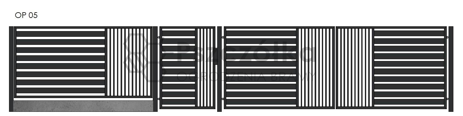 Nowoczesne ogrodzenia i bramy panelowe z profili Bochnia Kraków Tarnów Niepołomice Brzesko Wieliczka Limanowa OP5