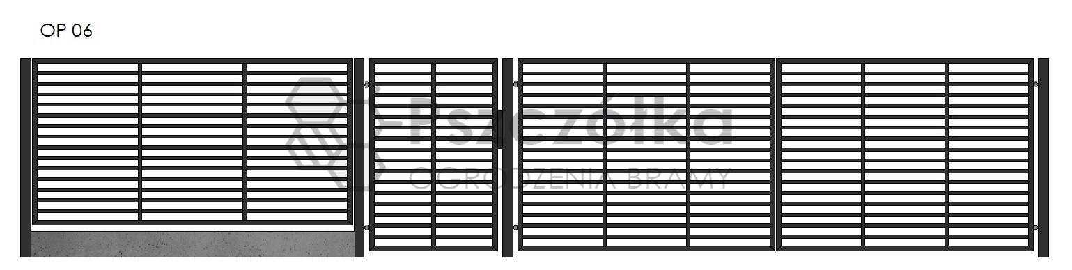 Nowoczesne ogrodzenia i bramy panelowe z profili Bochnia Kraków Tarnów Niepołomice Brzesko Wieliczka Limanowa OP6