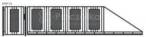 Nowoczesna brama wjazdowa przesuwna z blachy perforowanej BPBP06