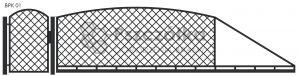 Nowoczesna brama przesuwna wjazdowa kuta metalowa BPK01