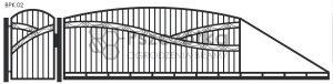 Nowoczesna brama przesuwna wjazdowa kuta metalowa BPK02