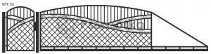 Nowoczesna brama przesuwna wjazdowa kuta metalowa BPK03
