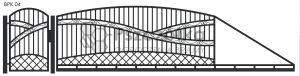 Nowoczesna brama przesuwna wjazdowa kuta metalowa BPK04