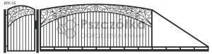 Nowoczesna brama przesuwna wjazdowa kuta metalowa BPK05