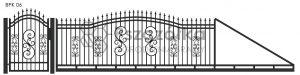 Nowoczesna brama przesuwna wjazdowa kuta metalowa BPK06