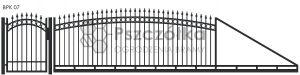 Nowoczesna brama przesuwna wjazdowa kuta metalowa BPK07