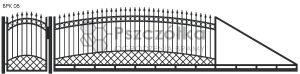 Nowoczesna brama przesuwna wjazdowa kuta metalowa BPK08