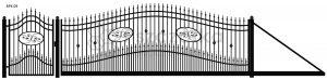 Nowoczesna brama przesuwna wjazdowa kuta metalowa BPK09
