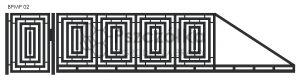 Nowoczesna brama przesuwna panelowa metalowa z profili poziomych pionowych BPMP02