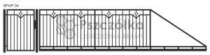 Nowoczesna brama przesuwna panelowa metalowa z profili poziomych pionowych BPMP04