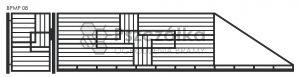 Nowoczesna brama przesuwna panelowa metalowa z profili poziomych pionowych BPMP08