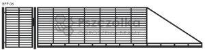 Nowoczesna brama przesuwna panelowa metalowa z profili poziomych BPP06