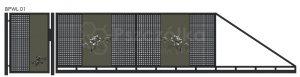 Nowoczesna brama przesuwna wycinana laserowo z blachy wzory BPWL01