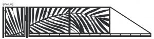 Nowoczesna brama przesuwna wycinana laserowo z blachy wzory BPWL02