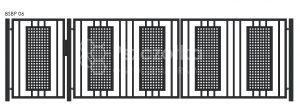 Nowoczesna brama panelowa z blachy perforowanej BSBP06