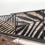 Nowoczesne ogrodzenia wycinane laserowo wzór Palma